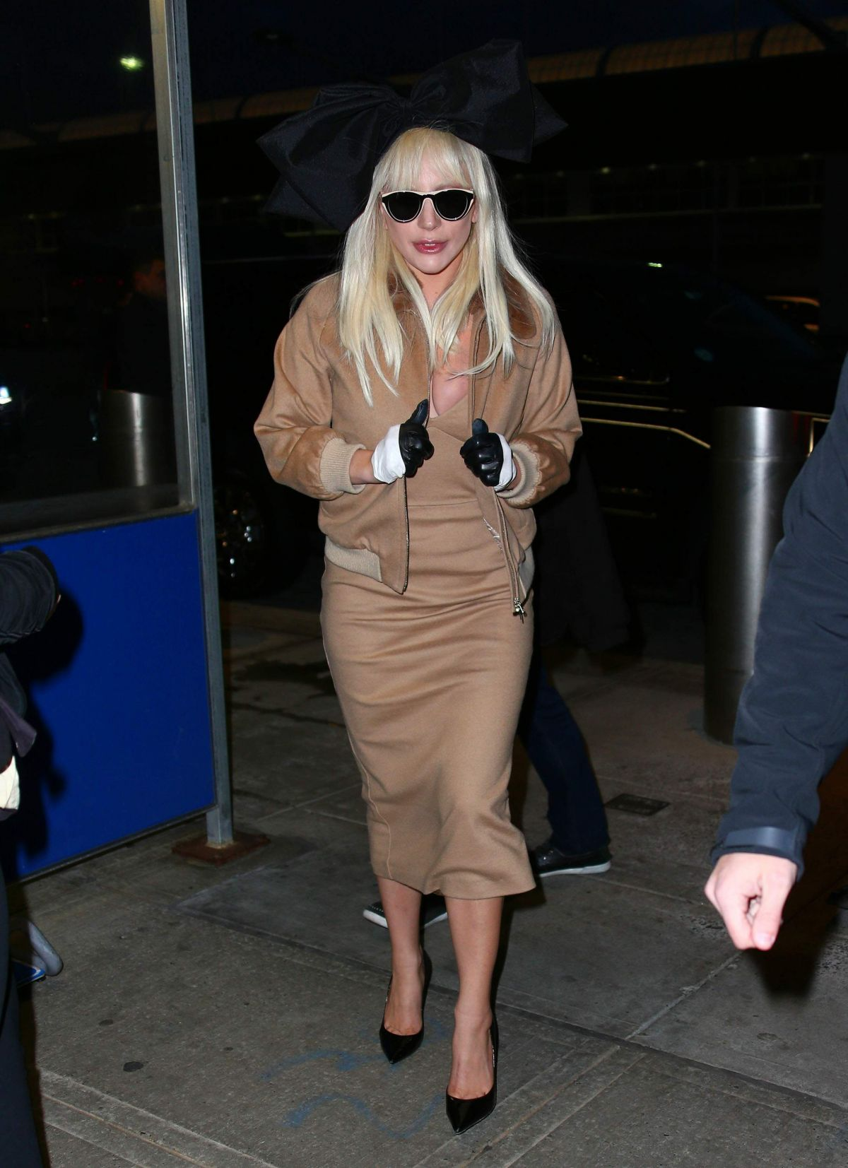 LADY GAGA Arrives at JFK Airport in New York 11/21/2015