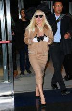 LADY GAGA Arrives at JFK Airport in New York 11/21/2015