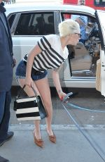 LADY GAGA Arrives at LAX Airport in Los Angeles 11/01/2015