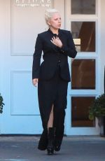 LADY GAGA Leaves Epione Cosmetic Laser Center in Beverly Hills 11/20/2015