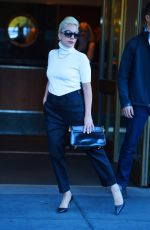 LADY GAGA Leaves Her Apartment in New York 11/04/2015