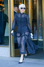 LADY GAGA Leaves Her Apartment in New York 11/21/2015