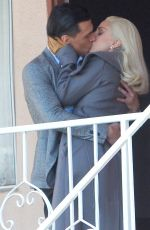 LADY GAGA on the Set of American Horror Story in Los Angeles 11/10/2015