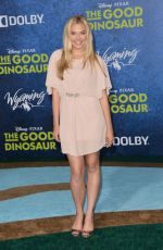 LAUREN TAYLOR at The Good Dinosaur Premiere in Hollywood 11/17/2015