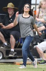 LEA MICHELLE at Scream Queens Set in New Orleans 11/04/2015