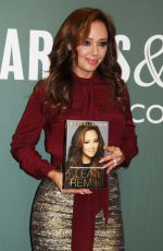 LEAH REMINI at Troublemaker - Durviving Hollywood and Scientology Promotion in New York 11/04/2015