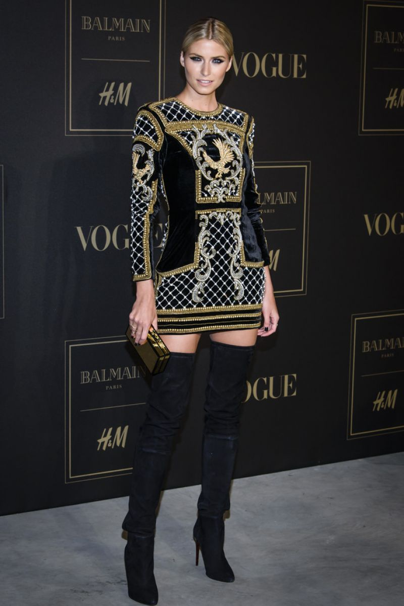 LENA GERCKE at Balmain x H&M Los Angeles VIP Pre-launch in West Hollywood 11/04/2015