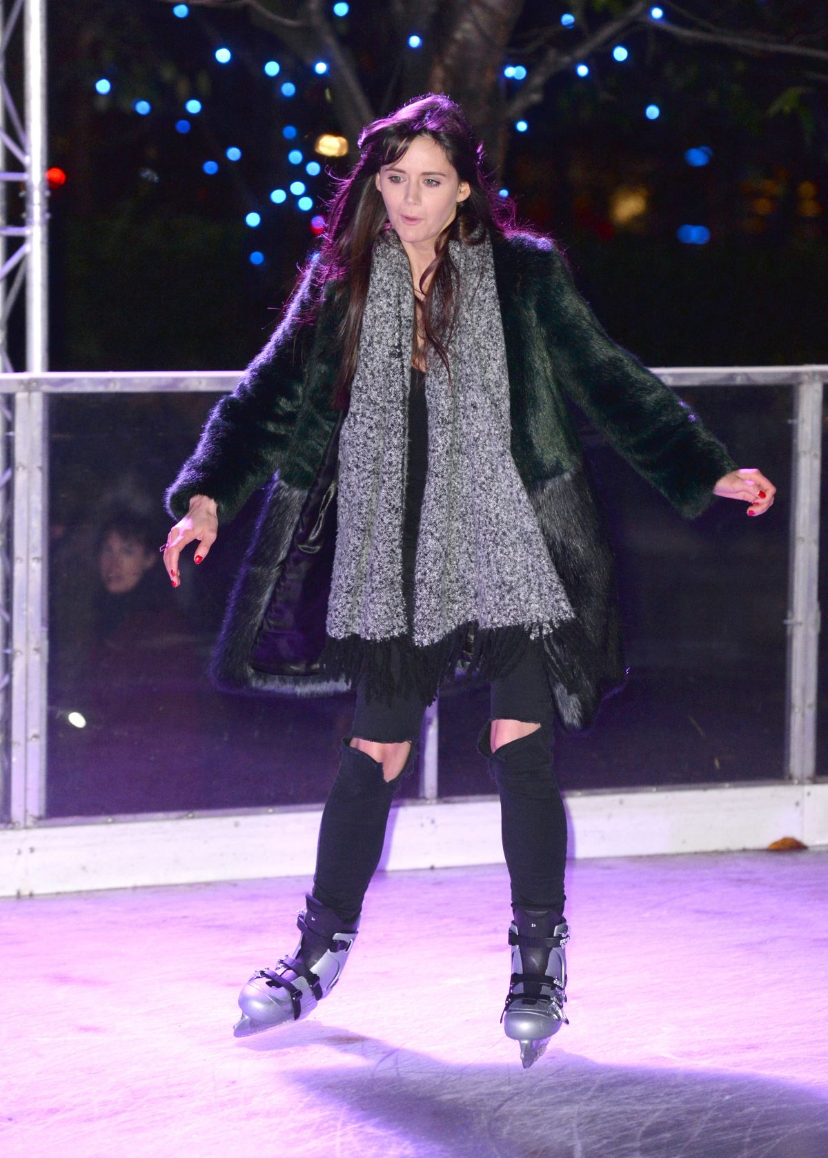LILAH PARSONS at Coca Cola London Eye Frostival Eyeskate in London 11/18/2015