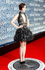 LILY COLLINS at 2016 Breakthrough Prize Ceremony in Mountain View 11/08/2015