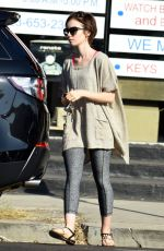 LILY COLLINS Out and About in Los Angeles 11/24/2015