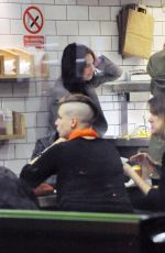 LILY JAMES and Matt Smith at Maoz Falafel in London 11/13/2015