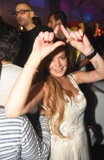 LINDSAY LOHAN at The VIP Room in Dubai 11/28/2015