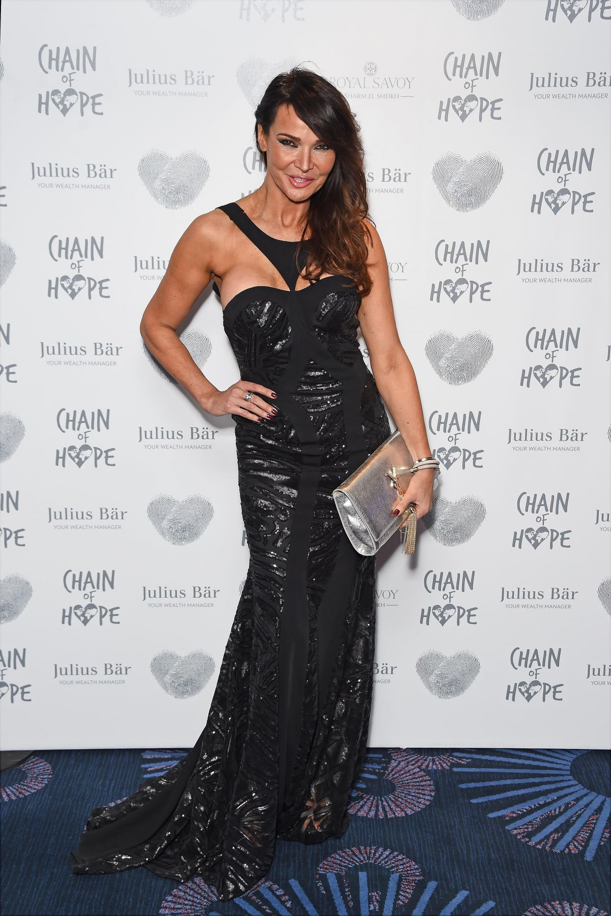 LIZZIE CUNDY at Chain of Hope Annual Ball in London 11/20/2015
