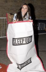 LOUISA LUTTON at 2015 Sleep Out for Centrepoint at The Old Truman Brewery in London 11/12/2015