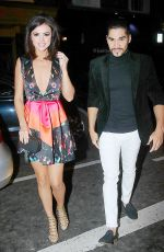 LUCY MECKLENBURGH Arrives at a Restaurant in London 11/28/2015