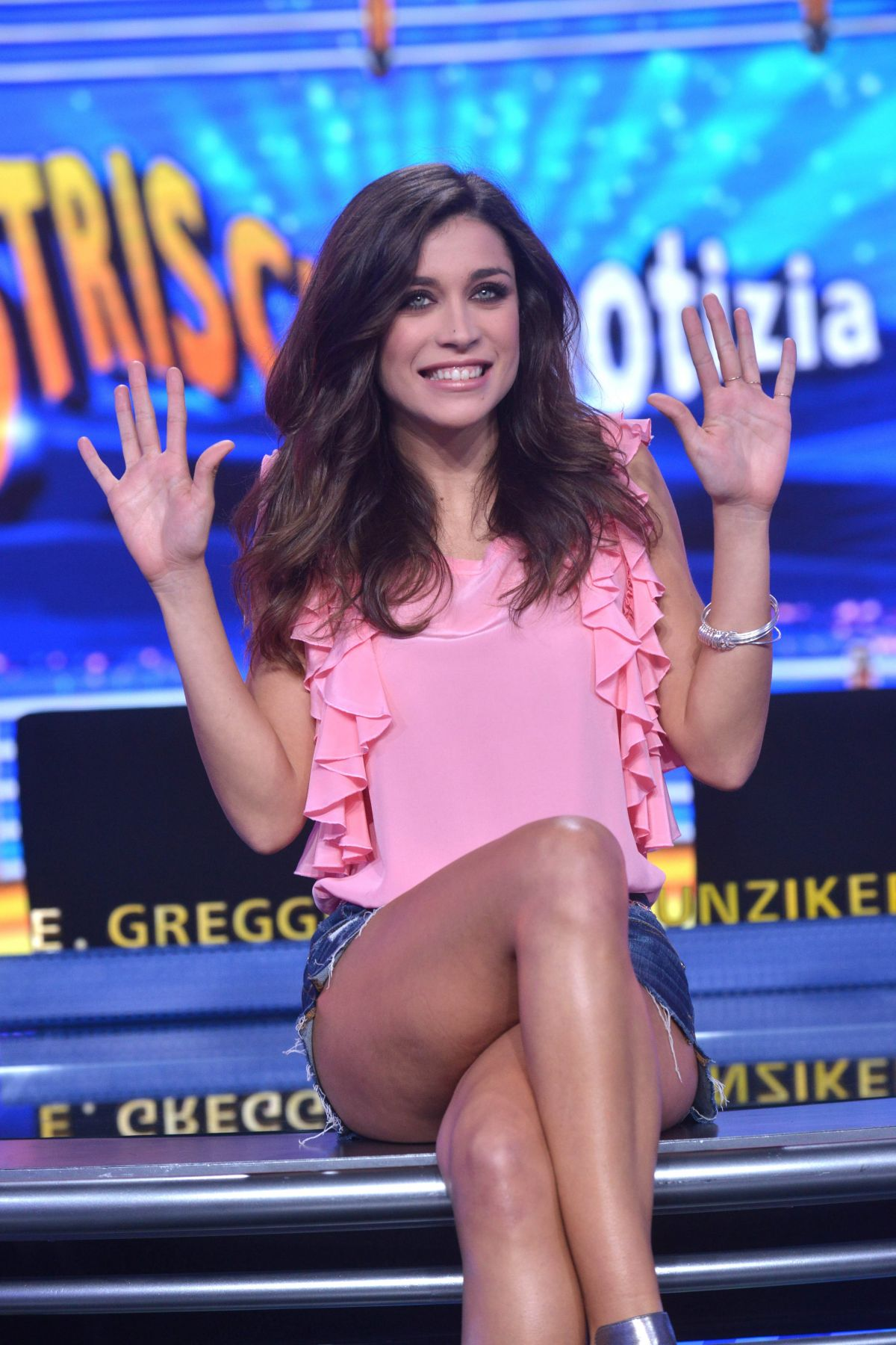 LUDOVICA FRASCA at Strip The News Photocall in Milan 10/26/2015