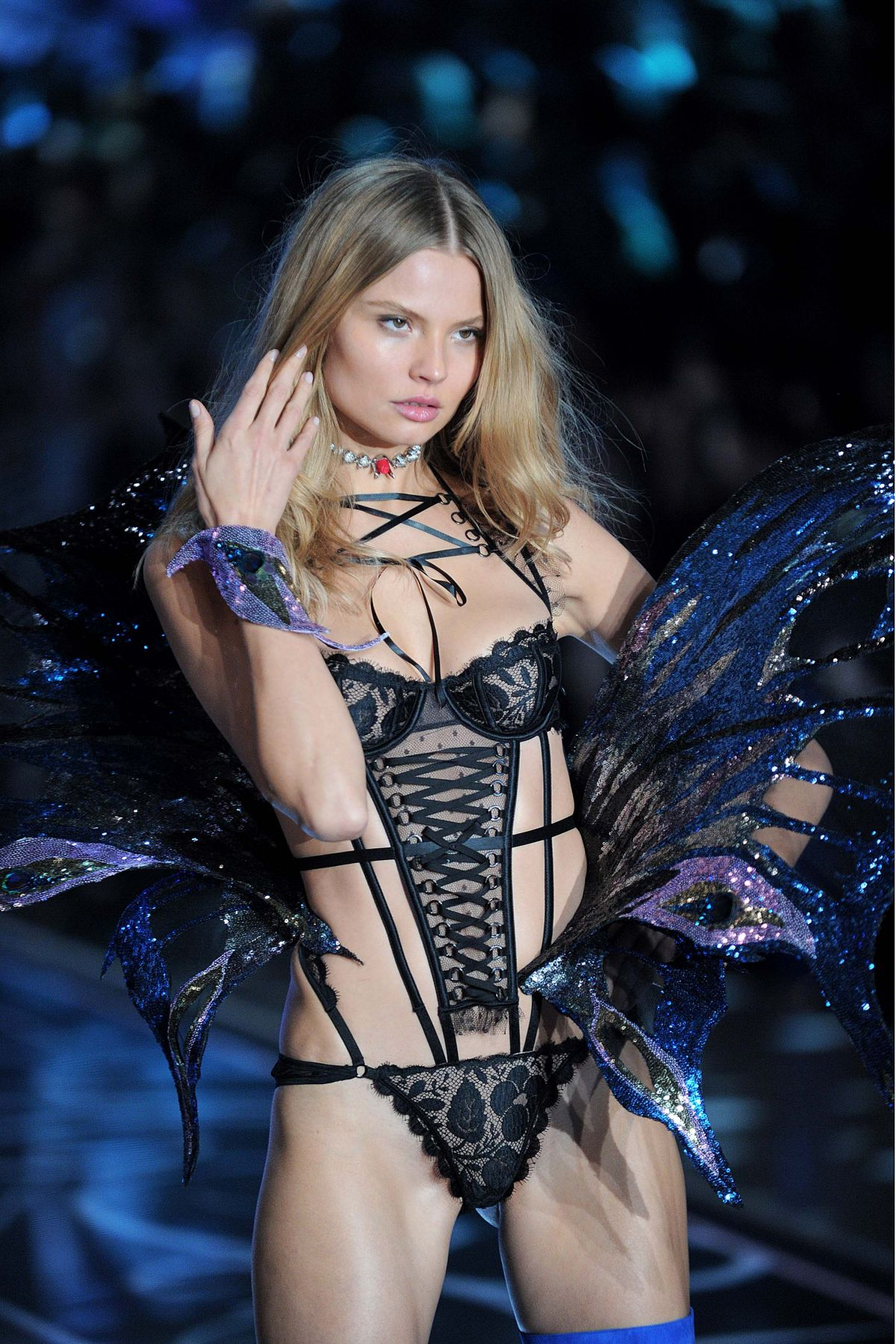 MAGDALENA FRACKOWIAK at Victoria's Secret 2015 Fashion Show in New York 11/10/2015