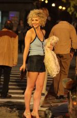 MAGGIE GYLLENHAAL on the Set of The Deuce in New York 11/03/2015