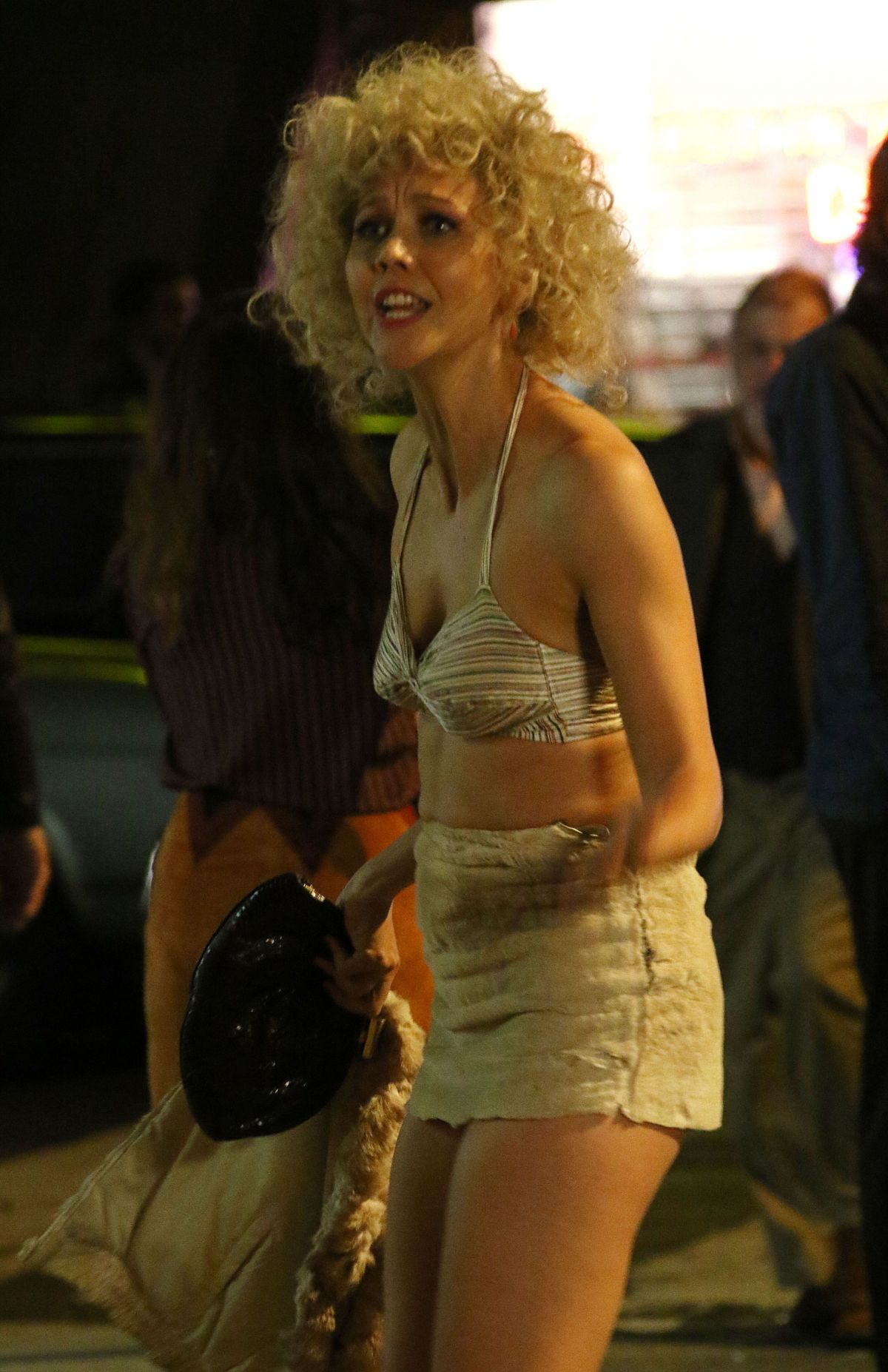 MAGGIE GYLLENHAAL on the Set of The Deuce in New York 11/04/2015 ...