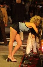MAGGIE GYLLENHAAL on the Set of The Deuce in New York 11/04/2015