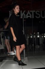 MAIA MITCHELL Leaves Katsuya in Hollywood 11/22/2015