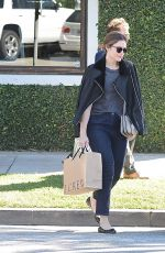 MANDY MOORE Leaves a Salon in Beverly Hills 11/05/2015