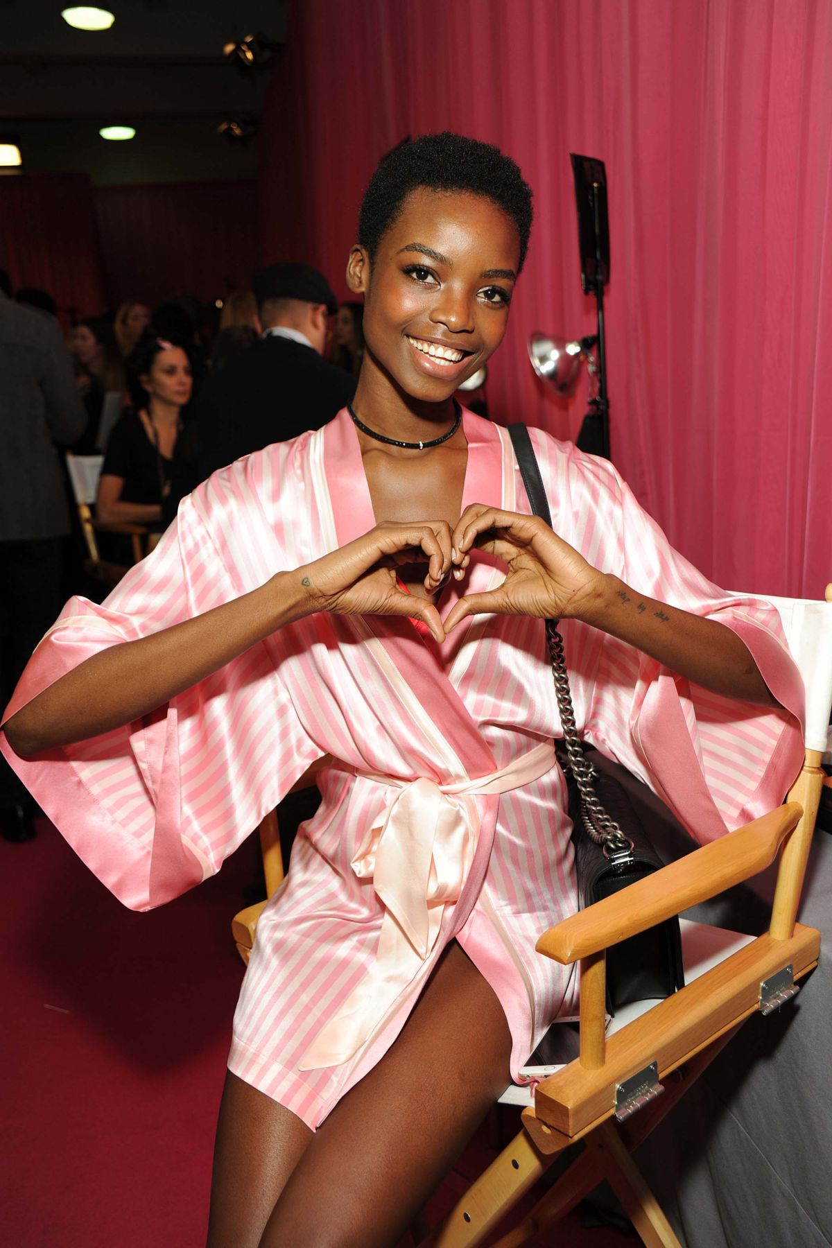 MARIA BORGES at Victoria's Secret 2015 Fashion Show Backstage 11/10/2015