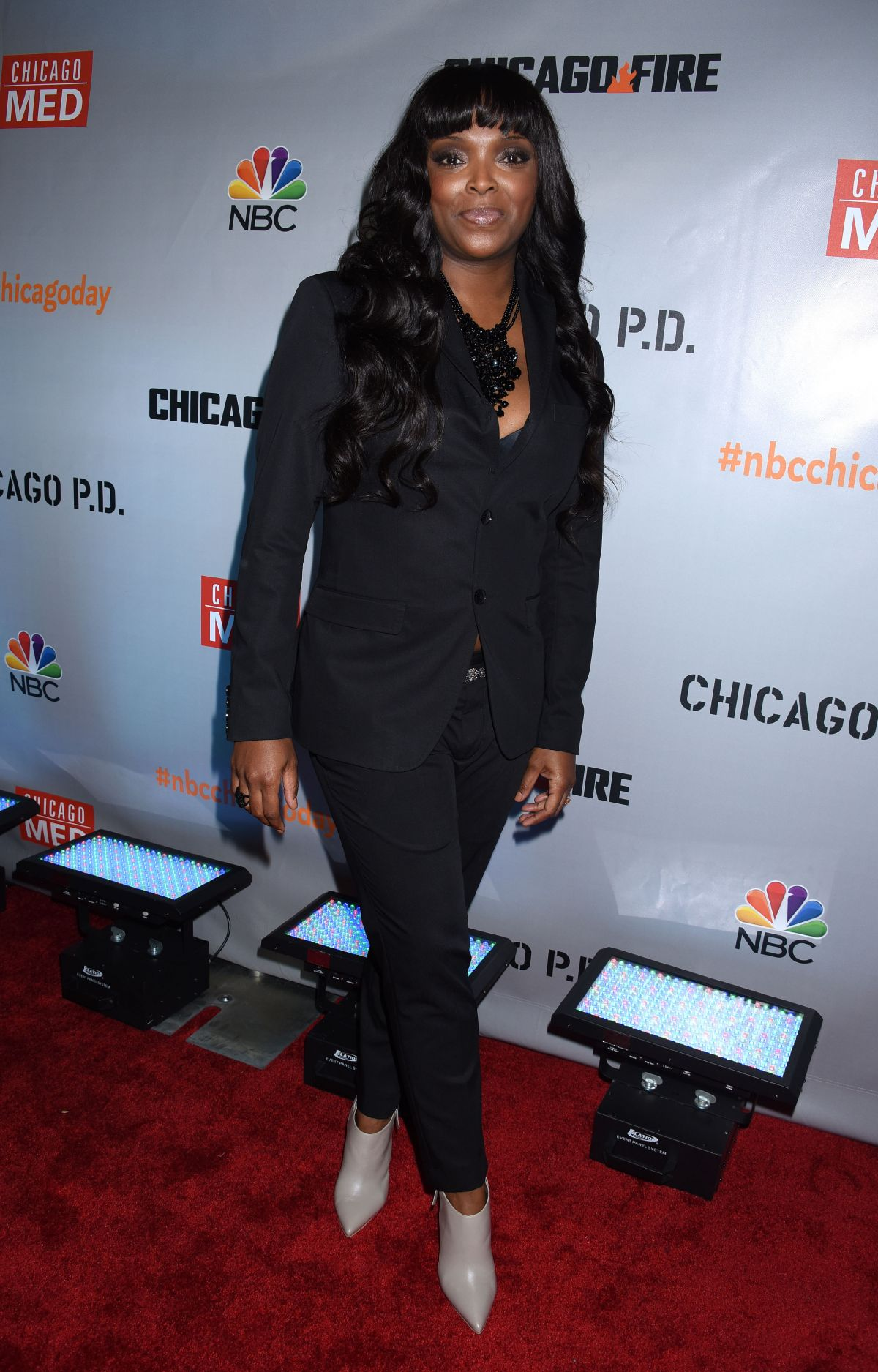 MARLYNE BARRETT at Chicago Fire, Chicago P.D. and Chicago Med Premiere in Chicago 11/09/2015