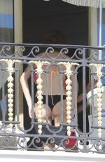 MARTINA STOESSEL in Bikini on a Hotel Balcony in France 10/31/2015