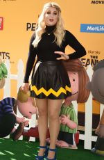 MEGHAN TRAINOR at The Peanuts Movie Premiere in Westwood 11/01/2015