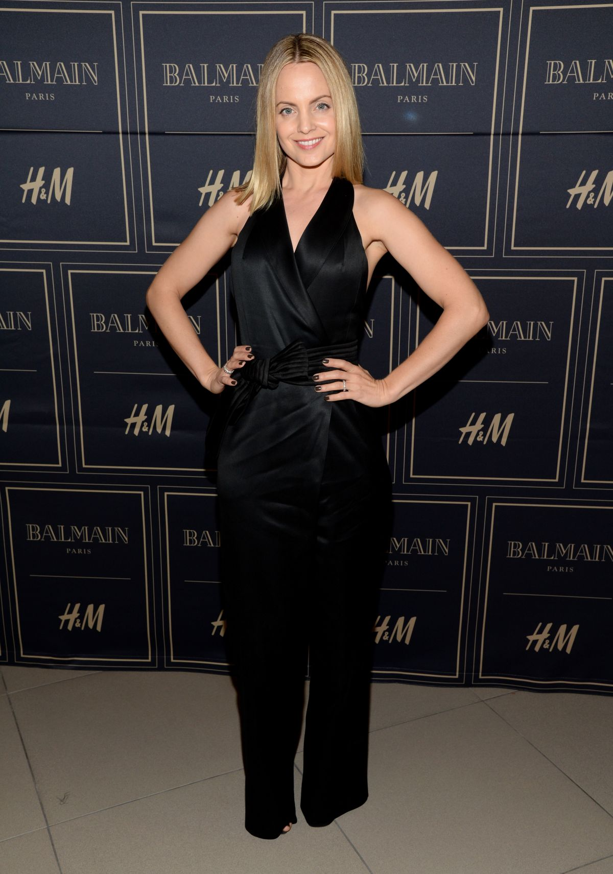 MENA SUVARI at Balmain x H&M Los Angeles VIP Pre-launch in West Hollywood 11/04/2015