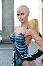 MICAELA SCHAEFER in Halloween Costume 2015 at The Brandenburger Tor in Berlin 10/28/2015