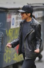 MICHELLE RODRIGUEZ on the Set of Her New Movie in Vancouver 11/16/2015