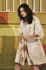 MICHELLE RODRIGUEZ on the Set of Tomboy, a Revenger