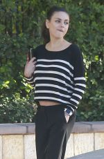 MILA KUNIS Out and About in Los Angeles 11/09/2015