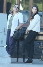 MILA KUNIS Out for Lunch at Cocina Condesa in Studio City 11/12/2015