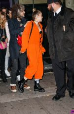 MILEY CYRUS Leaves Up and Down Nightclub in New York 11/28/2015