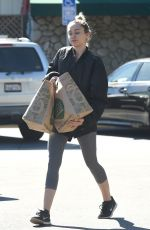 MILEY CYRUS Shopping at Whole Foods market in Los Angeles 11/05/2015
