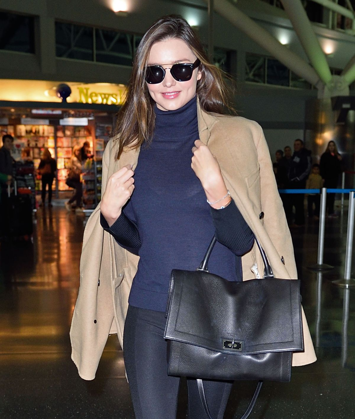 MIRANDA KERR Arrives at JFK Airport in New York 11/15/2015