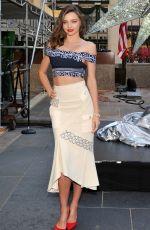 MIRANDA KERR at Swarovski Star Raising for 2015 Rockefeller Center Christmas Tree in New York 11/16/2015