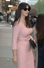 MONICA BELLUCCI Leaves Her Hotel  in New York 11/05/2015