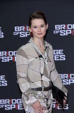 NADJA BOBYLEVA at Bridge of Spies Premiere at Zoo Palast in Berlin 11/13/2015
