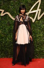 NAOMI CAMPBELL at 2015 British Fashion Awards in London 11/23/2015