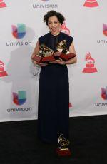 NATALIA LAFOURCADE at 2015 Latin Grammy Awards in Las Vegas 11/18/2015