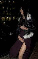 NEELAM GILL Arrives at Claridges for Release of New Christmas Tree by Christopher Baily from Burberry 11/18/2015