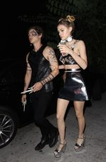 NICOLA PELTZ at Just Jared Halloween Party in Hollywood 10/31/2015
