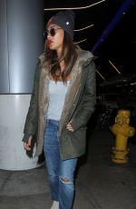 NICOLE SCHERZINEGER Arrives at Los Angeles International Airport 11/25/2015