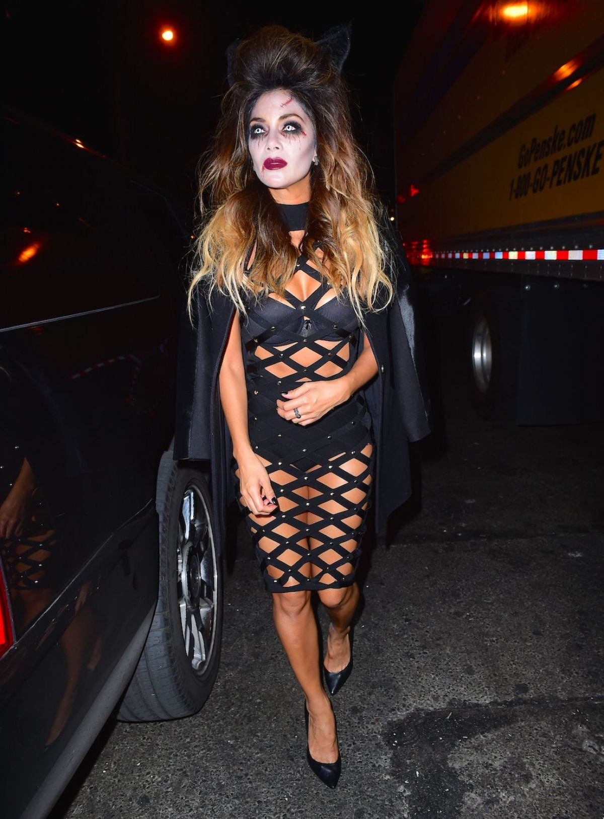 NICOLE SCHERZINGER at Heidi Klum Halloween Party in New York 10/31/2015