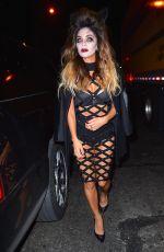 NICOLE SCHERZINGER at Heidi Klum Halloween Party in New York 10/31/2015