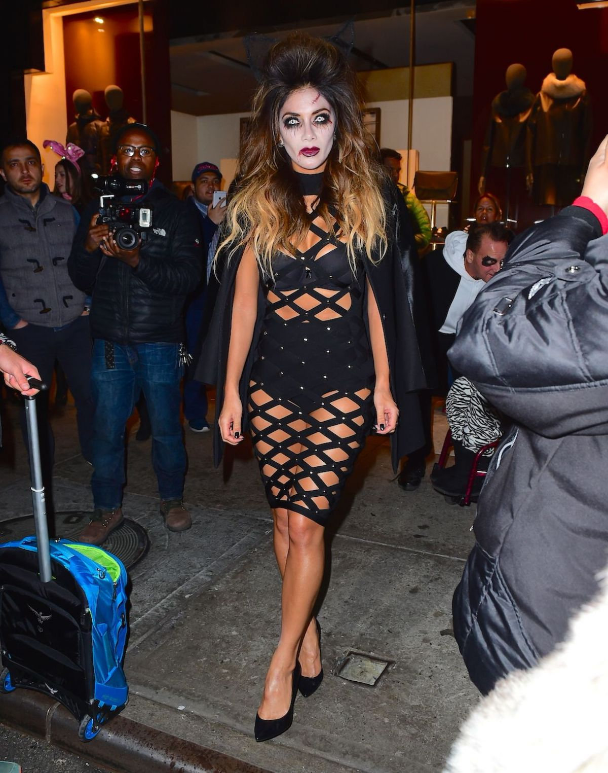 Nicole Scherzinger Halloween Costume.Nicole Scherzinger At Heidi Klum Halloween Party In New York 10 31